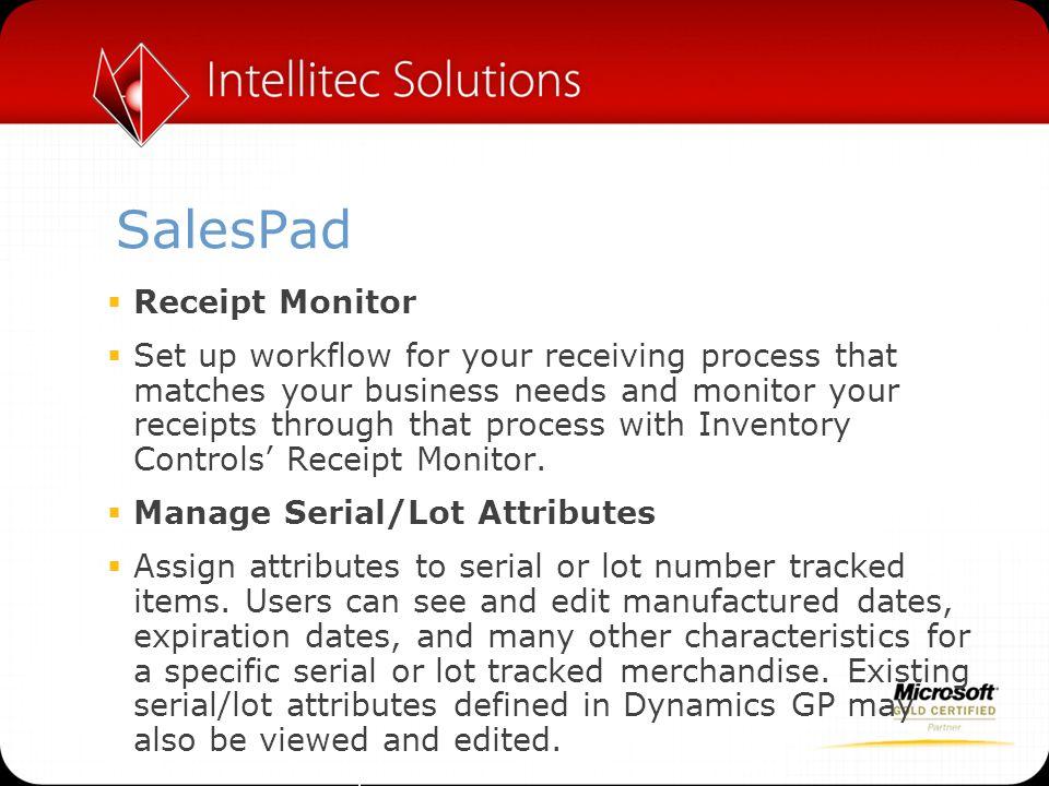 SalesPad Receipt Monitor