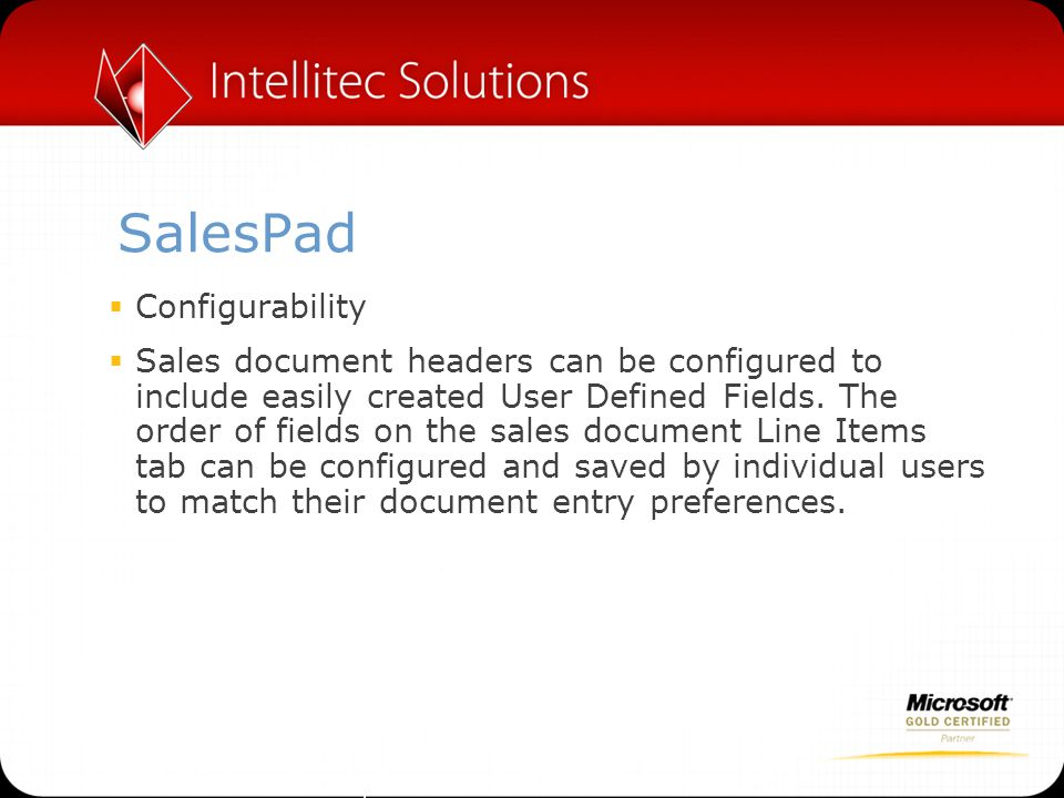 SalesPad Configurability