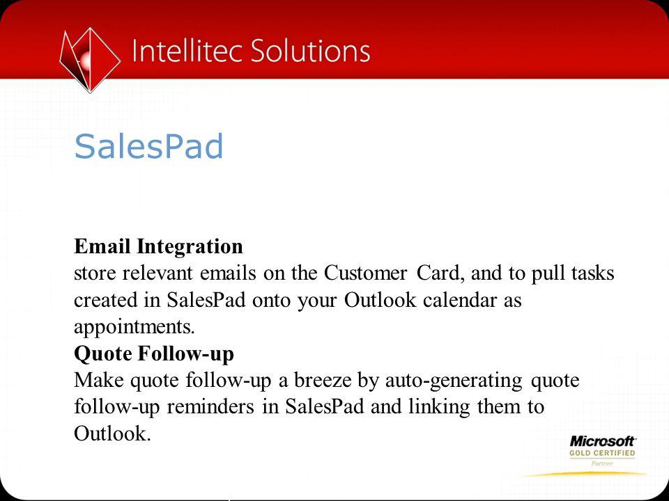 SalesPad Email Integration