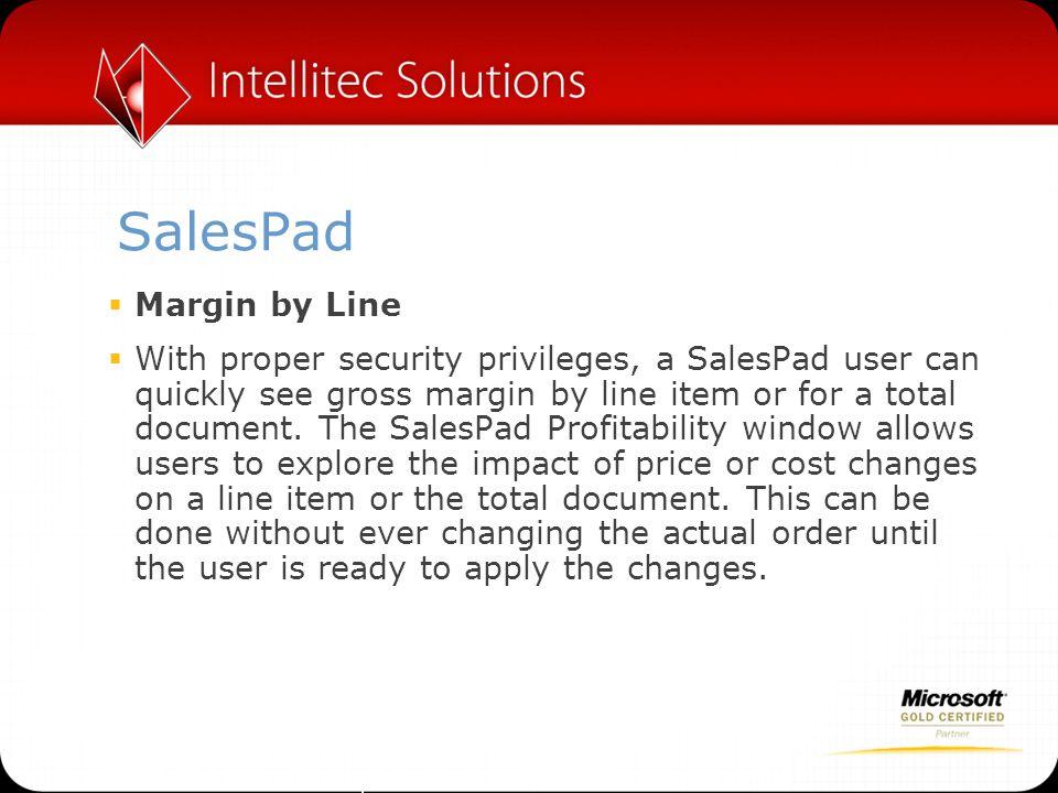 SalesPad Margin by Line