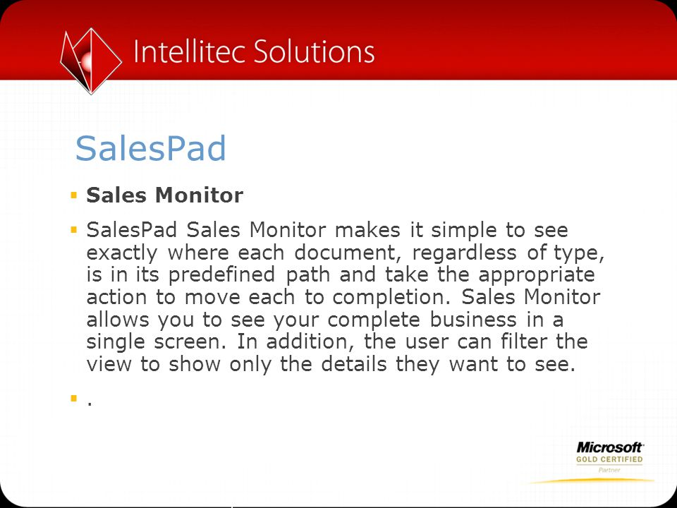 SalesPad Sales Monitor