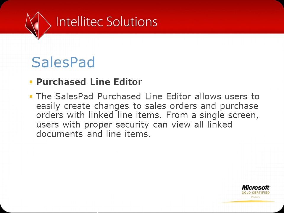 SalesPad Purchased Line Editor