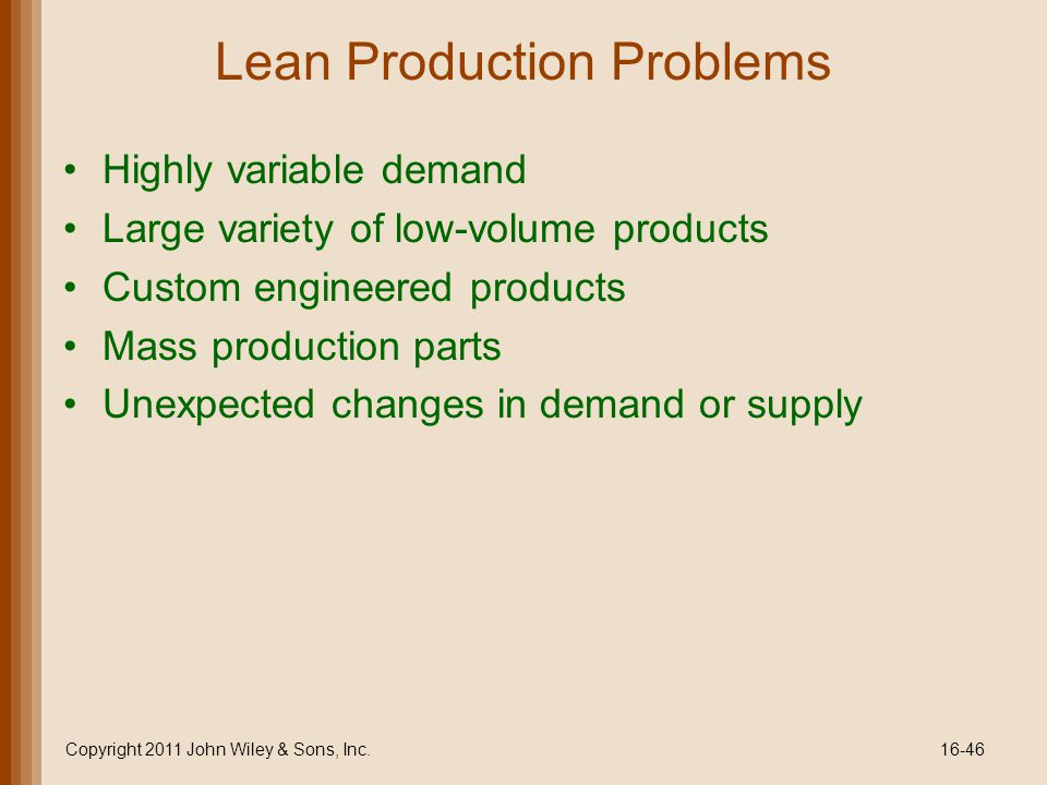 Lean Production Problems