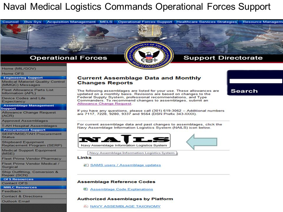Naval Medical Logistics Commands Operational Forces Support