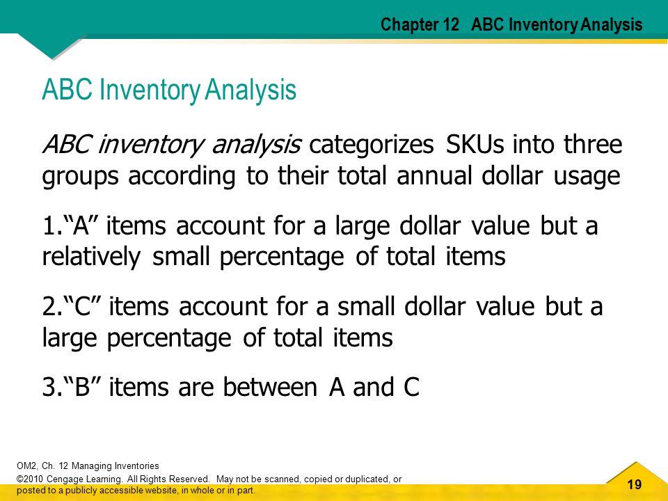 ABC Inventory Analysis