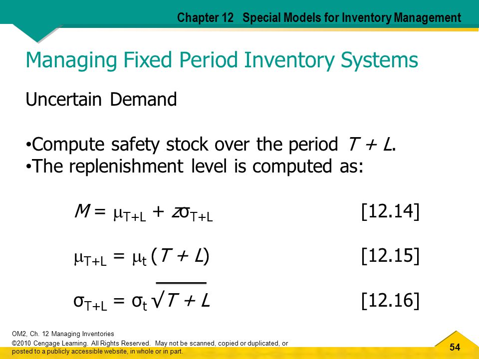 Managing Fixed Period Inventory Systems