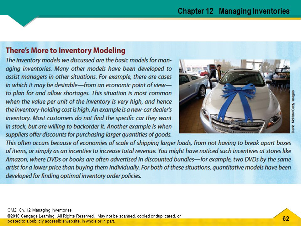 Chapter 12 Managing Inventories