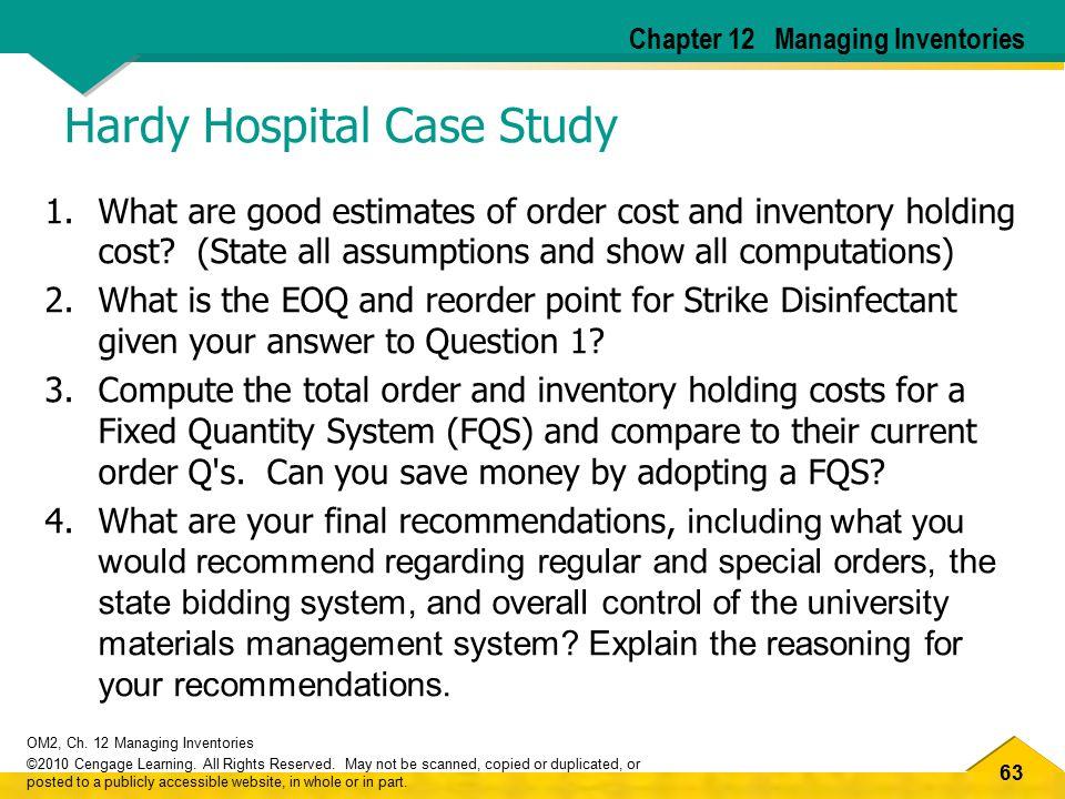 Hardy Hospital Case Study