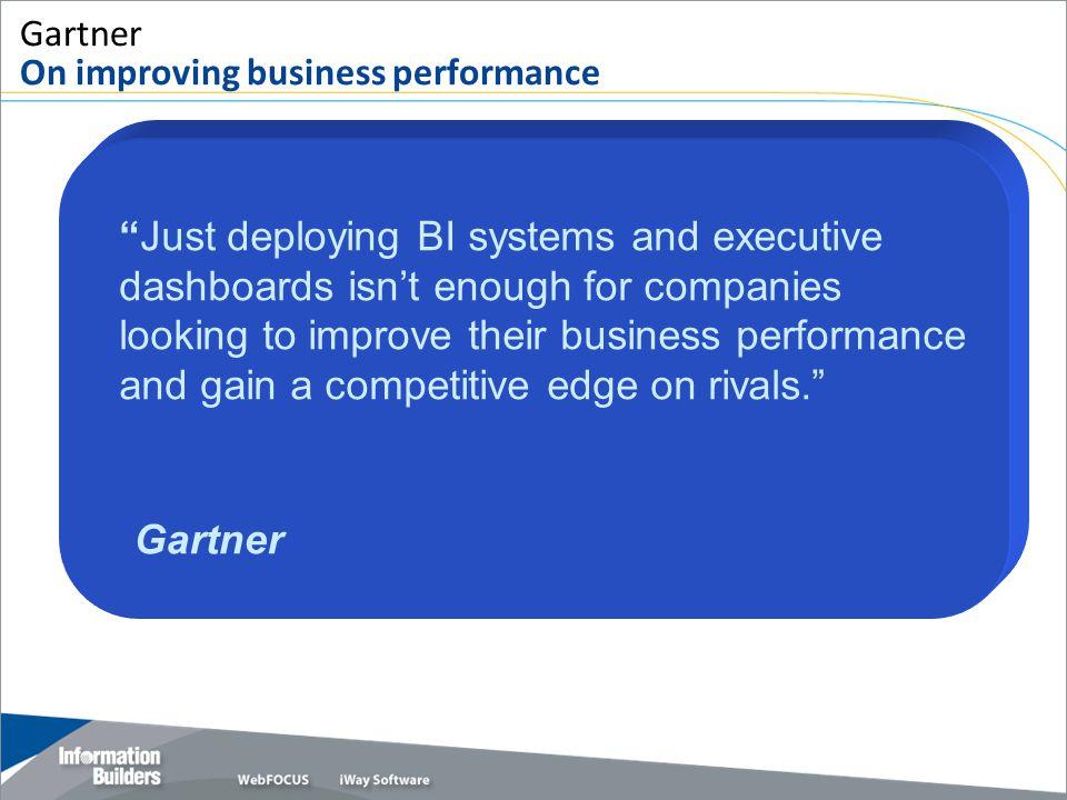 Gartner On improving business performance