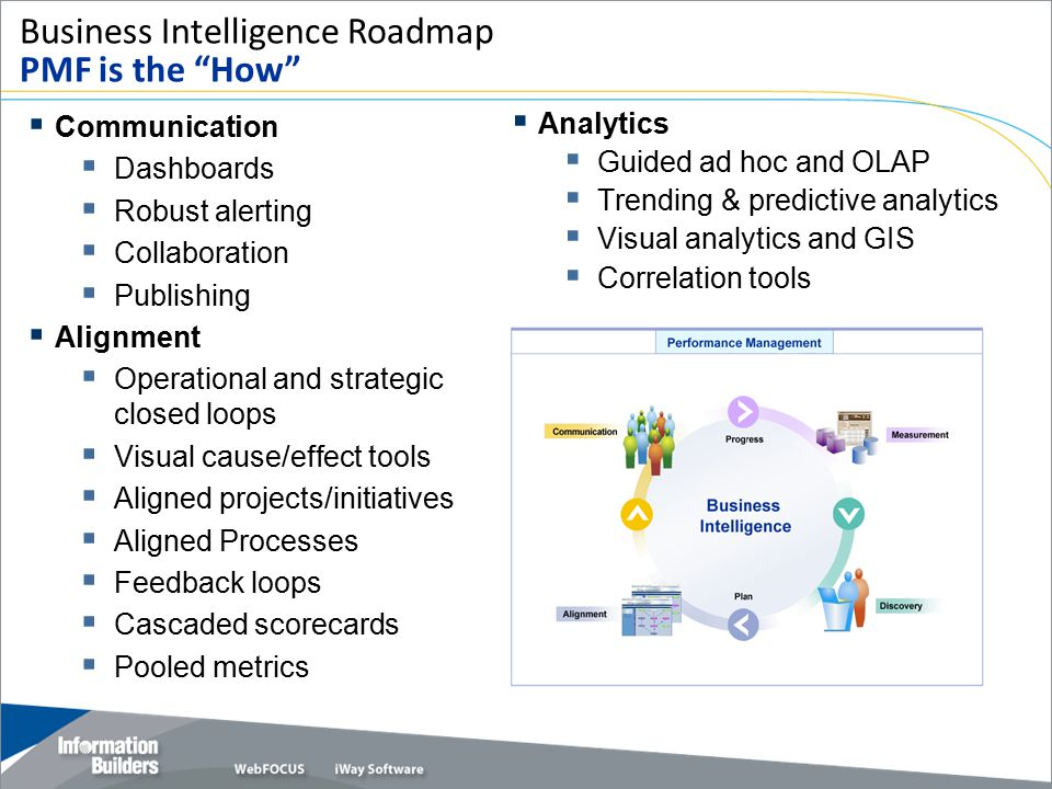 Business Intelligence Roadmap PMF is the How