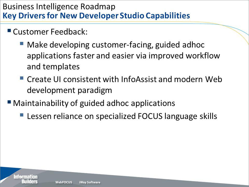 Business Intelligence Roadmap Key Drivers for New Developer Studio Capabilities