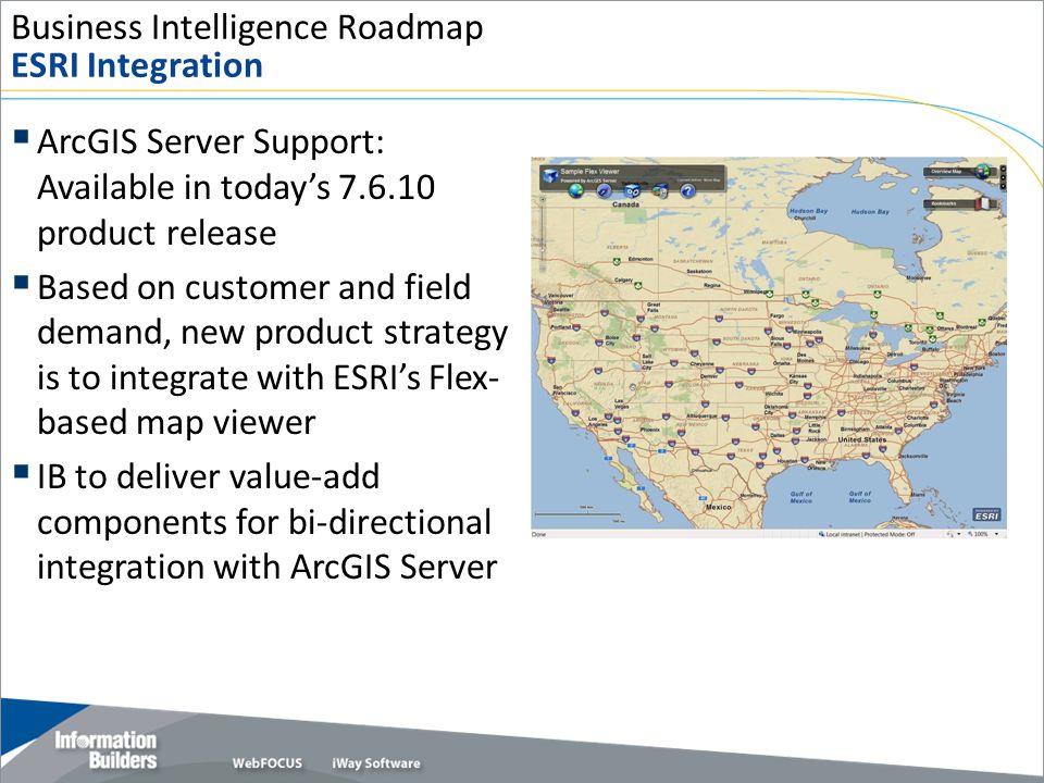 Business Intelligence Roadmap ESRI Integration