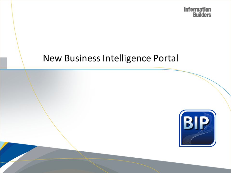 New Business Intelligence Portal
