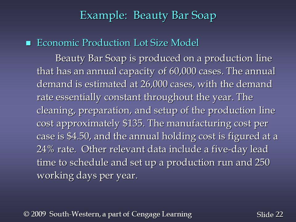 Example: Beauty Bar Soap