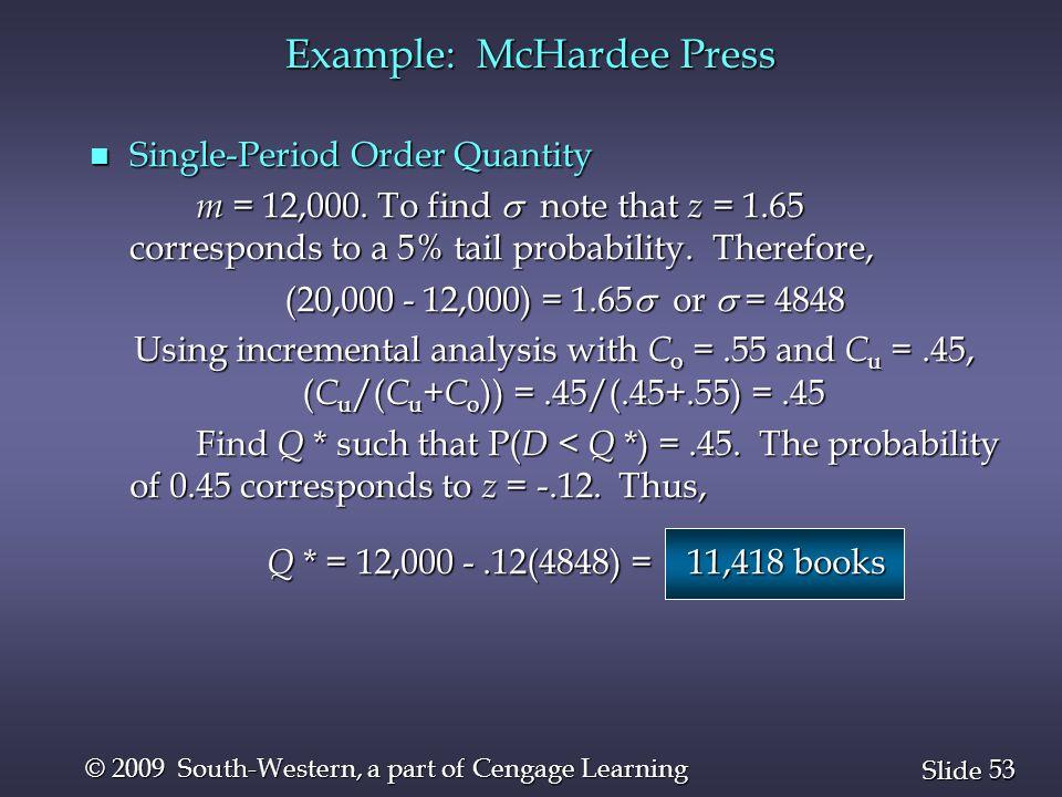 Example: McHardee Press