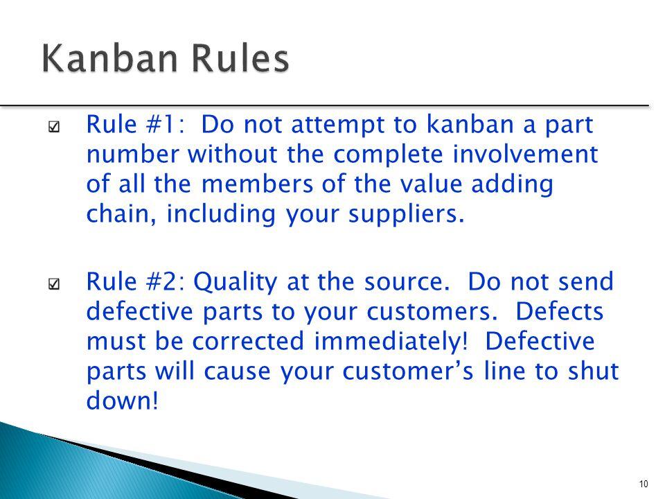 Kanban Rules