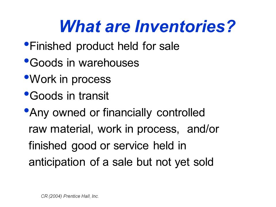 What are Inventories Finished product held for sale