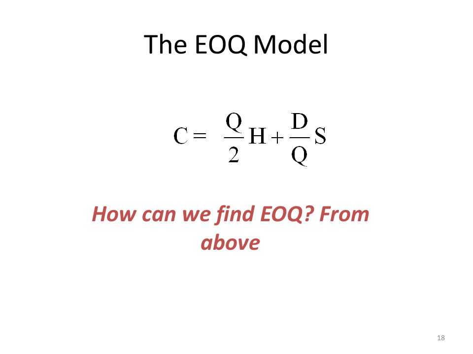 How can we find EOQ From above