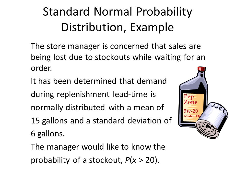 Standard Normal Probability Distribution, Example