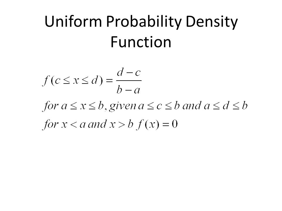 Uniform Probability Density Function