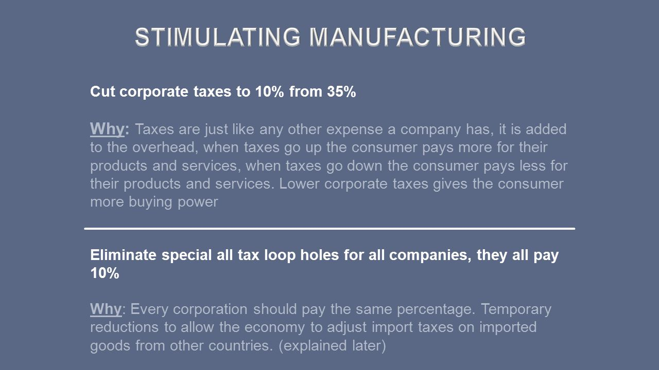 STIMULATING Manufacturing