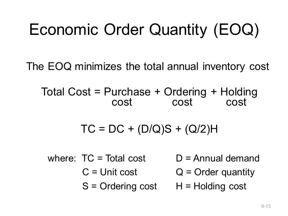 Economic Order Quantity (EOQ)