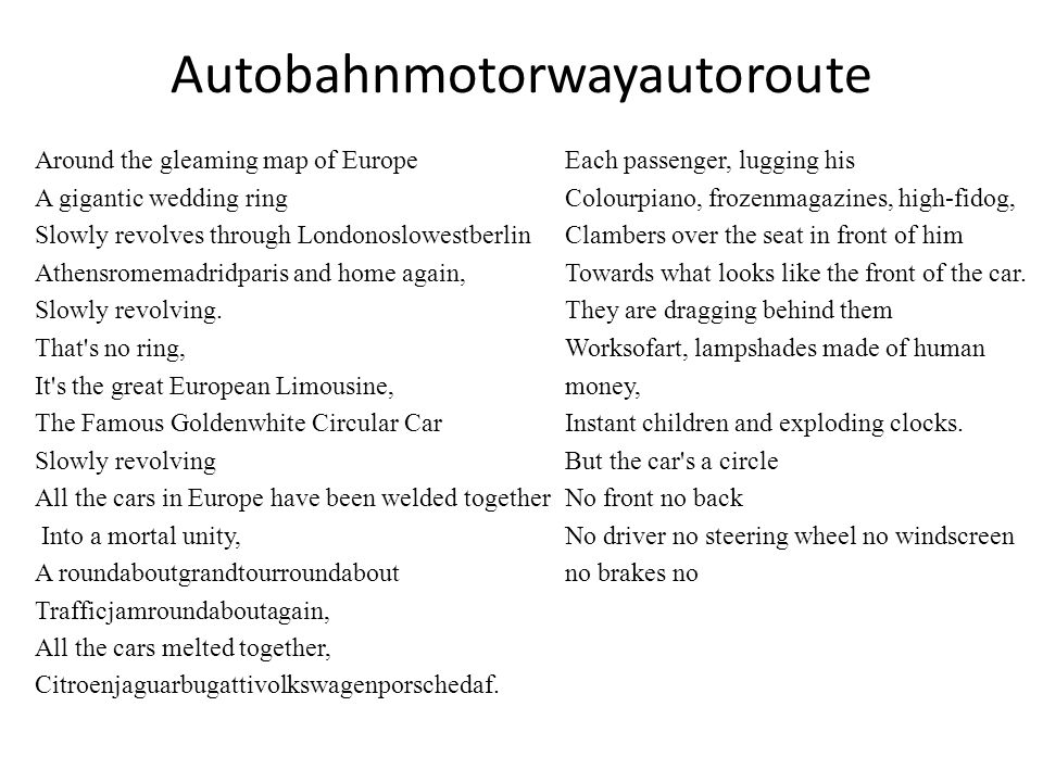 Autobahnmotorwayautoroute