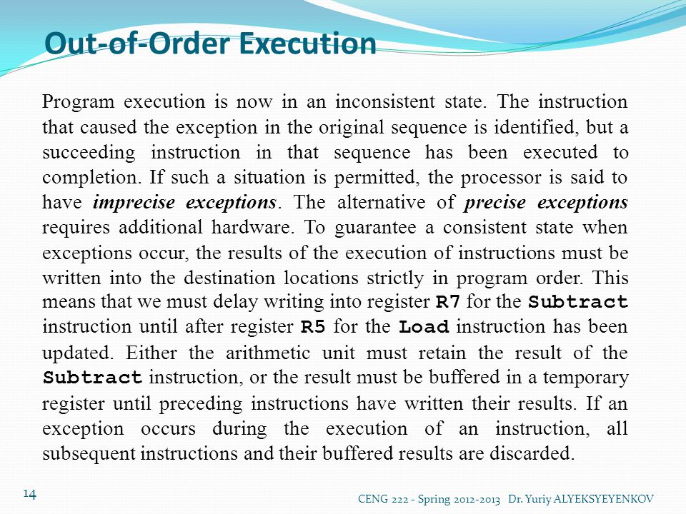Out-of-Order Execution