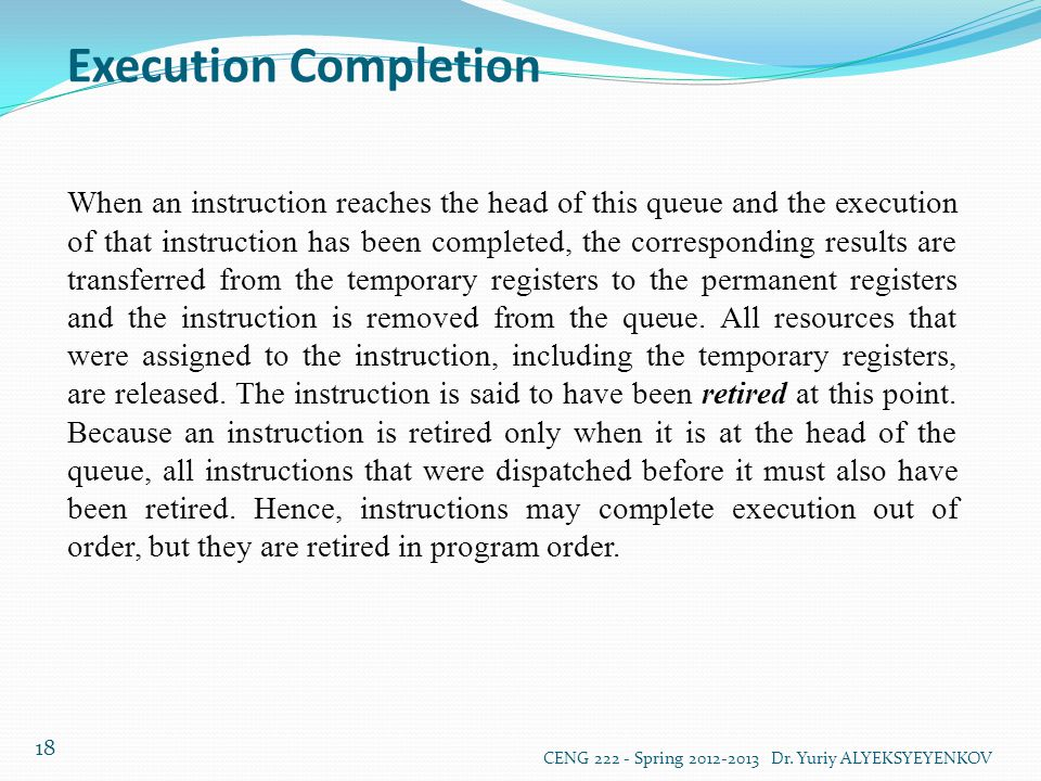 Execution Completion