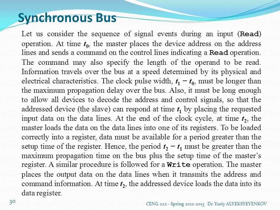 Synchronous Bus