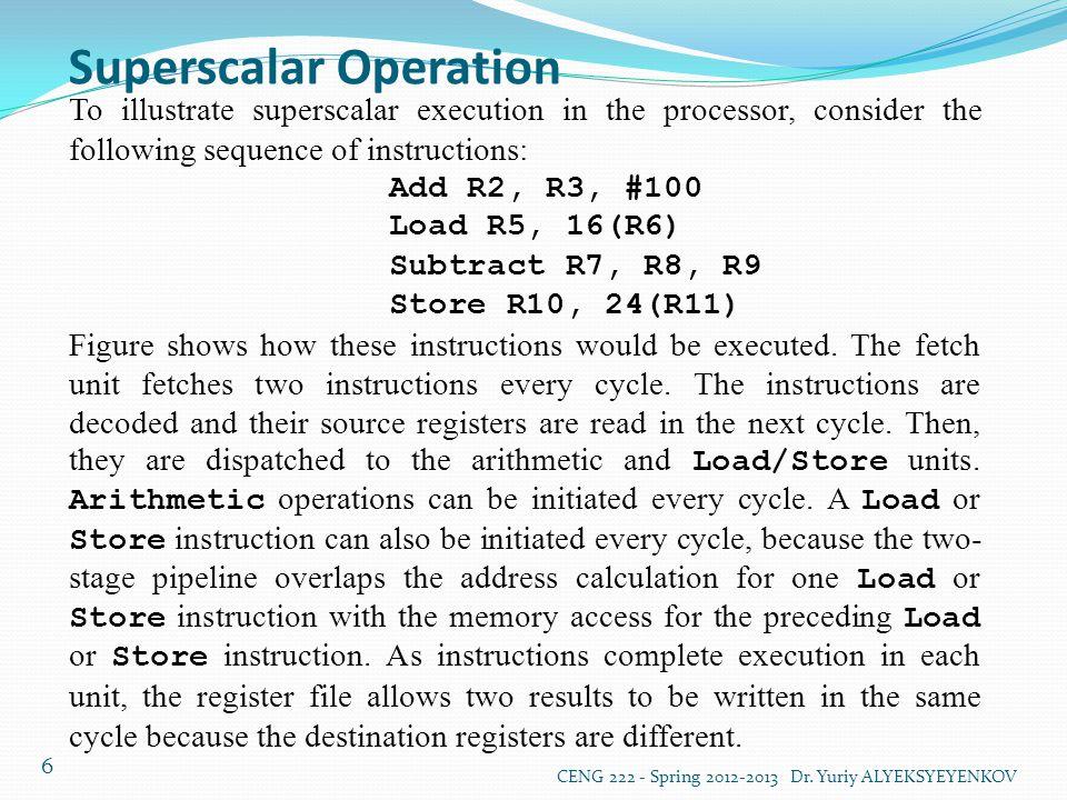Superscalar Operation