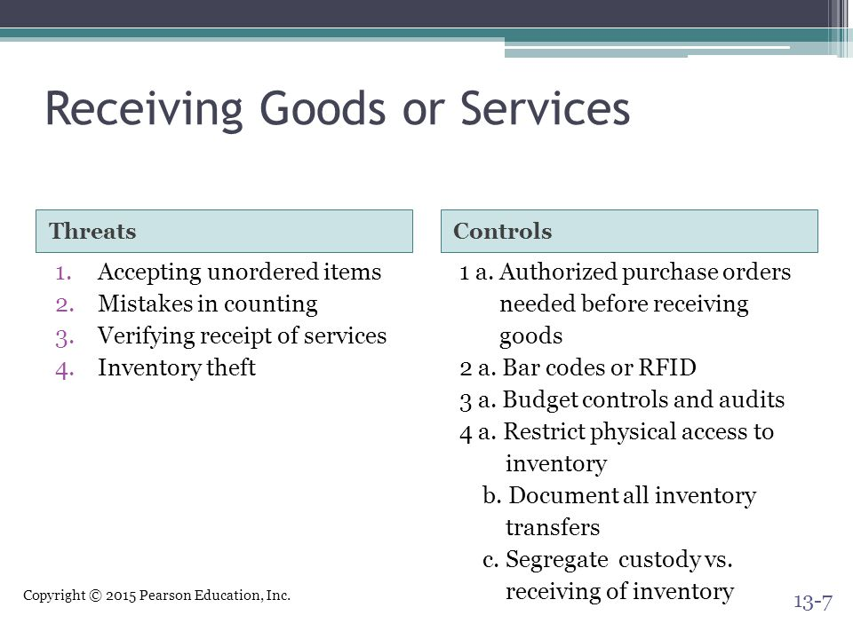 Receiving Goods or Services