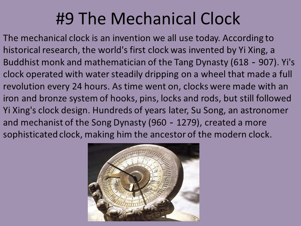 #9 The Mechanical Clock