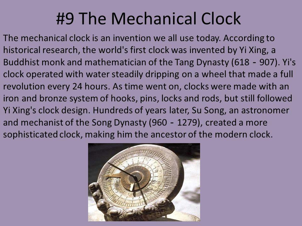 #9 The Mechanical Clock