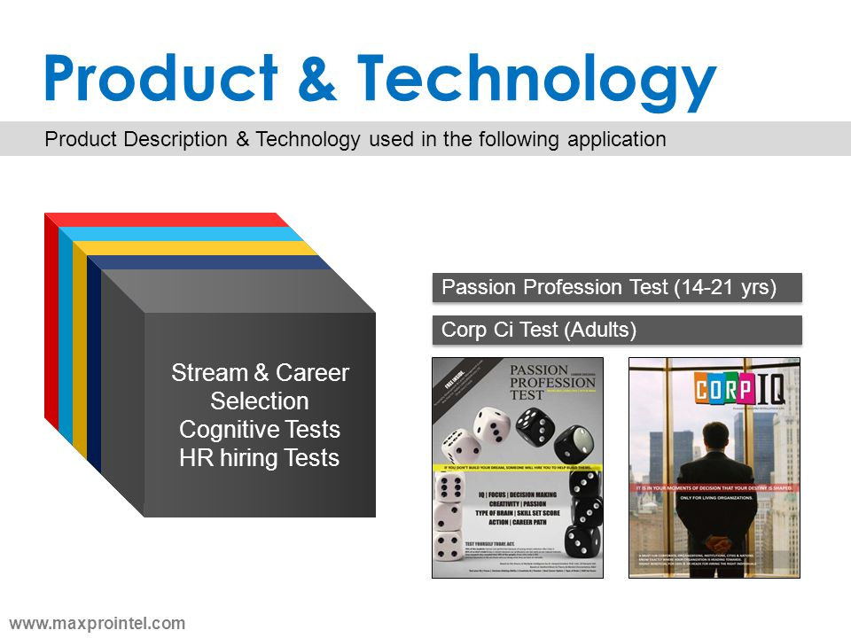 Product & Technology Stream & Career Selection Cognitive Tests