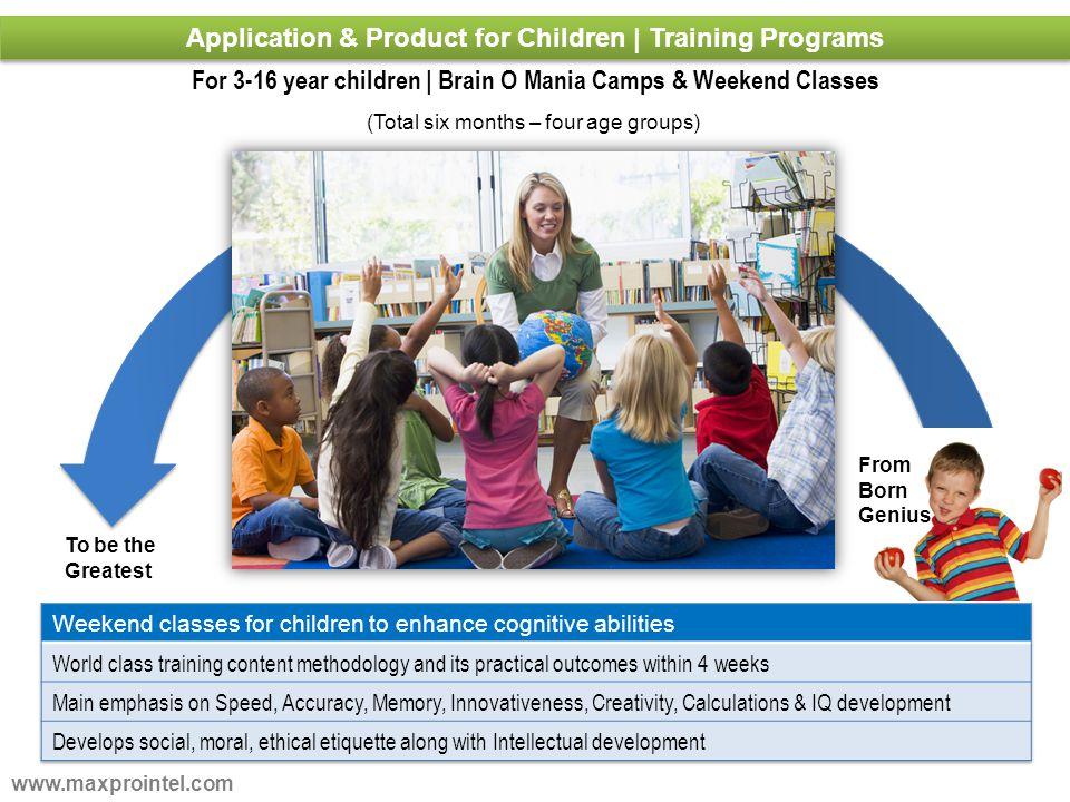 Application & Product for Children | Training Programs