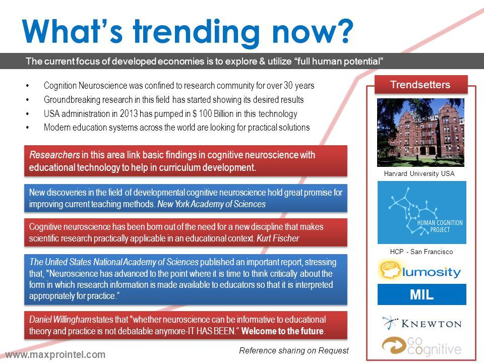 What's trending now MIL Trendsetters