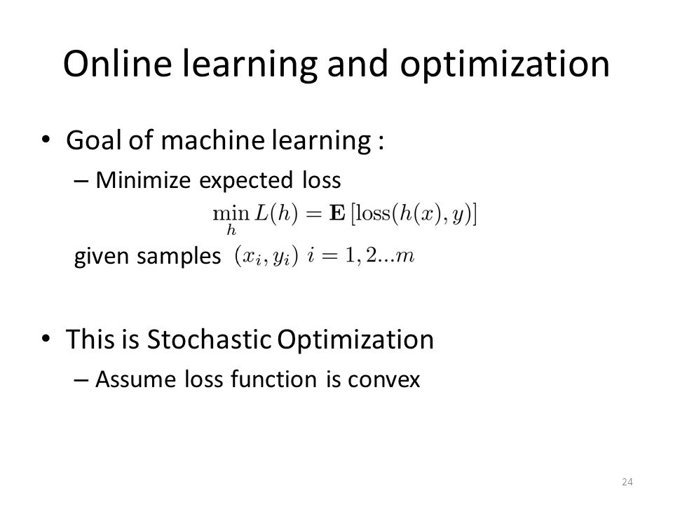 Online learning and optimization