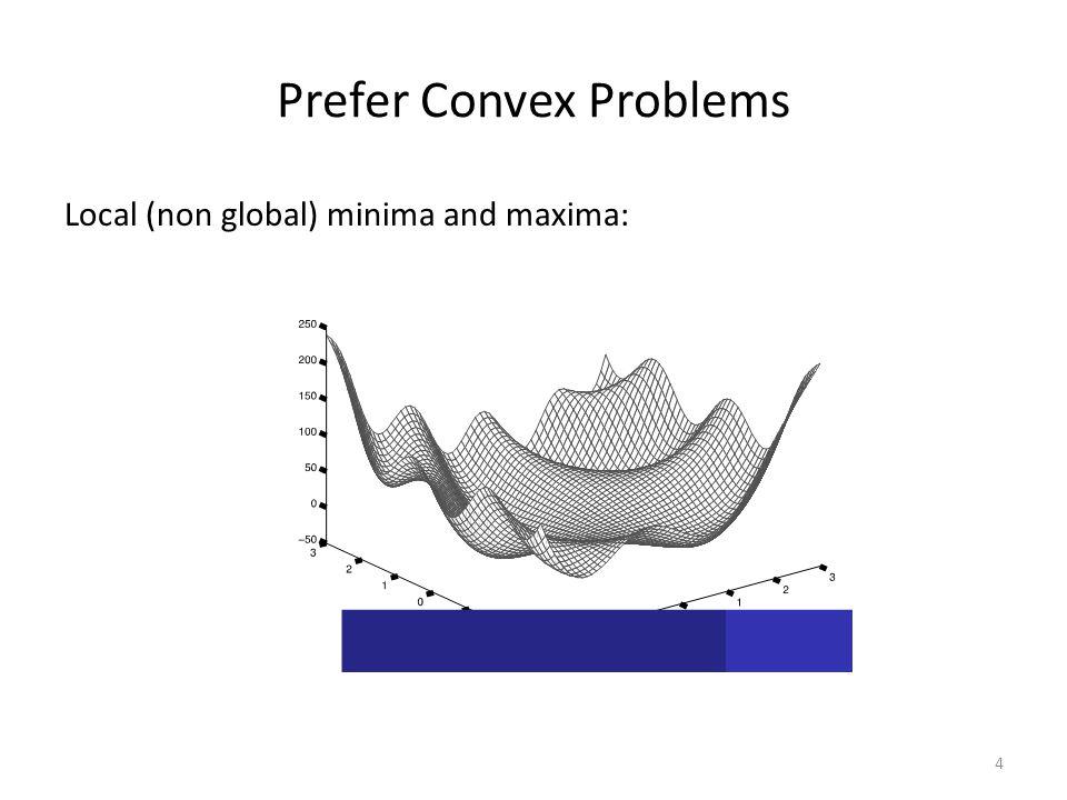 Prefer Convex Problems