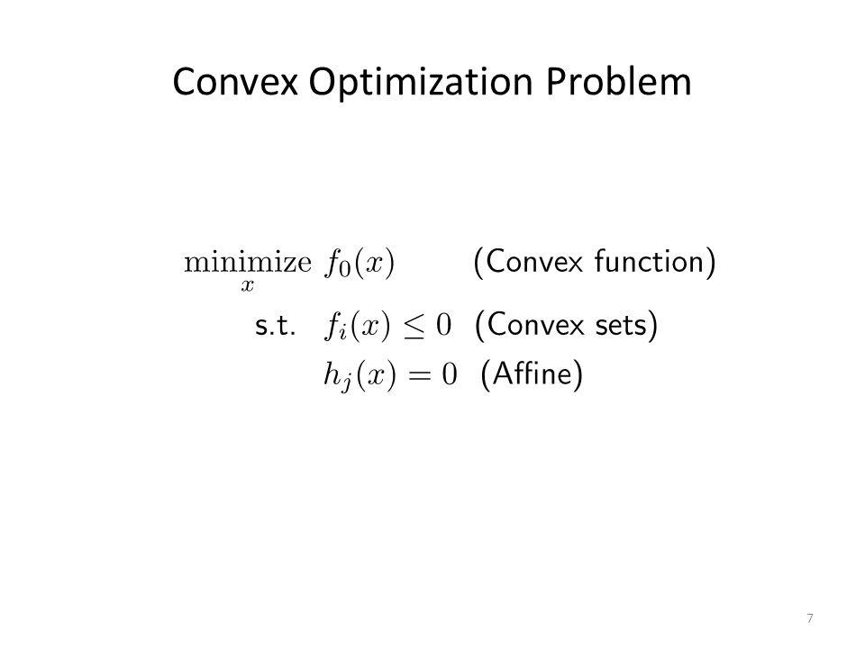 Convex Optimization Problem