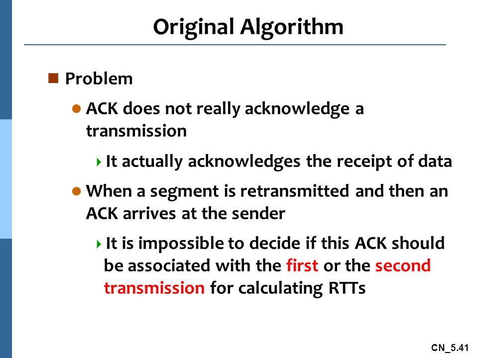 Original Algorithm Problem