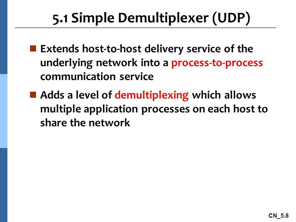 5.1 Simple Demultiplexer (UDP)