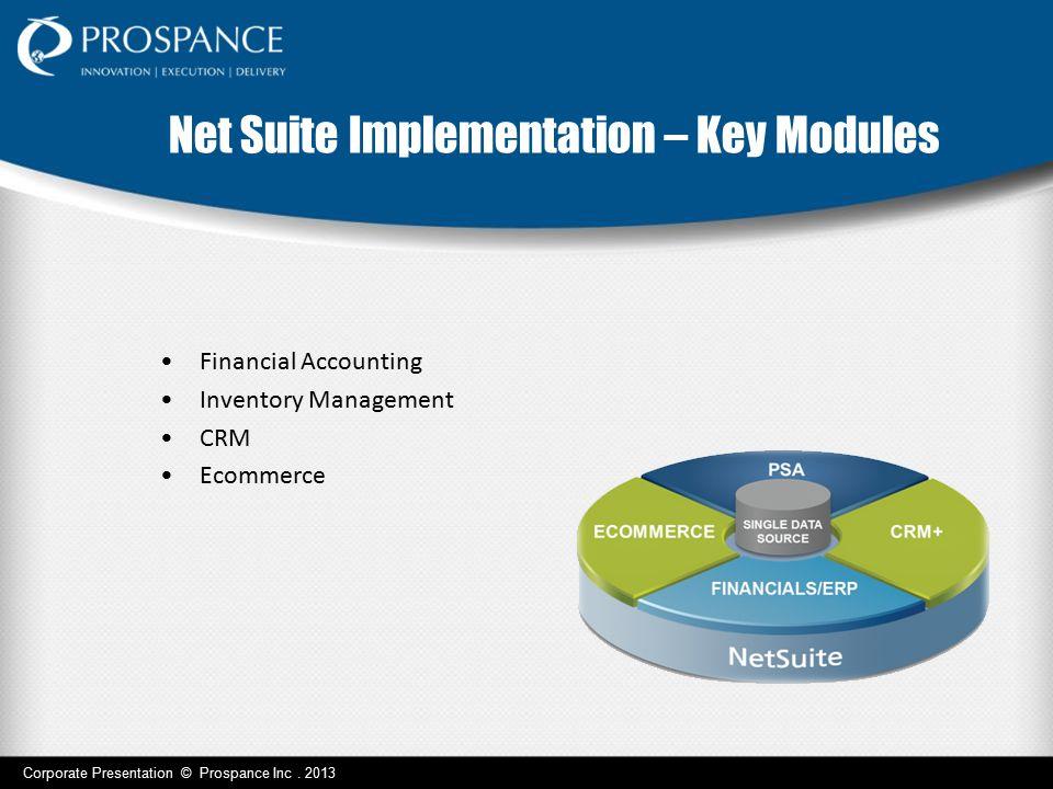 Net Suite Implementation – Key Modules