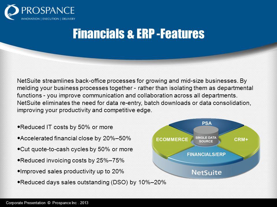 Financials & ERP -Features