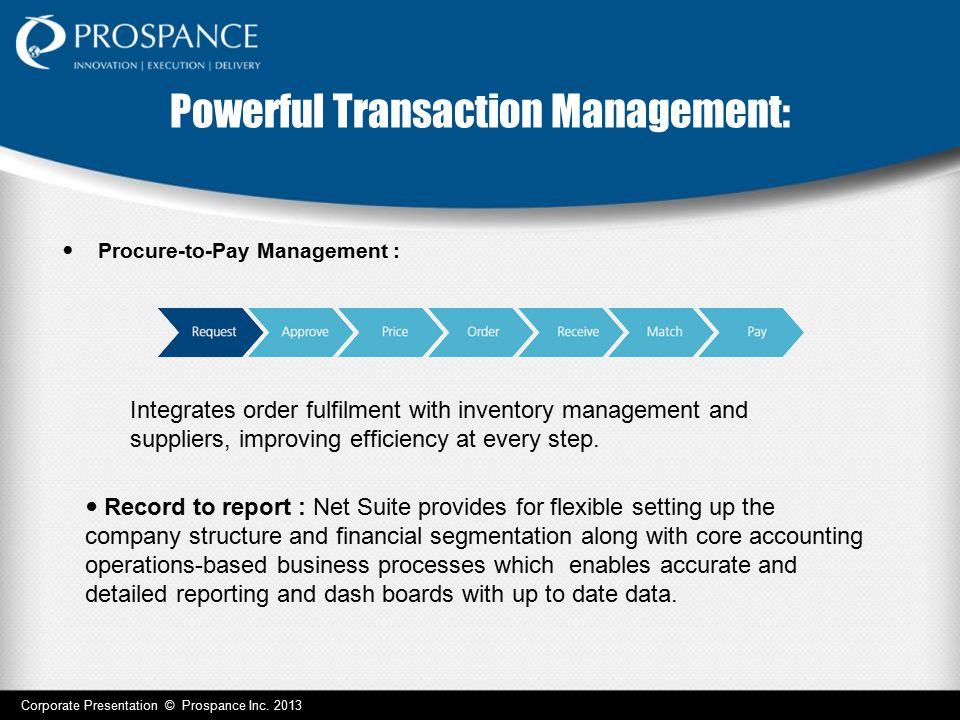 Powerful Transaction Management: