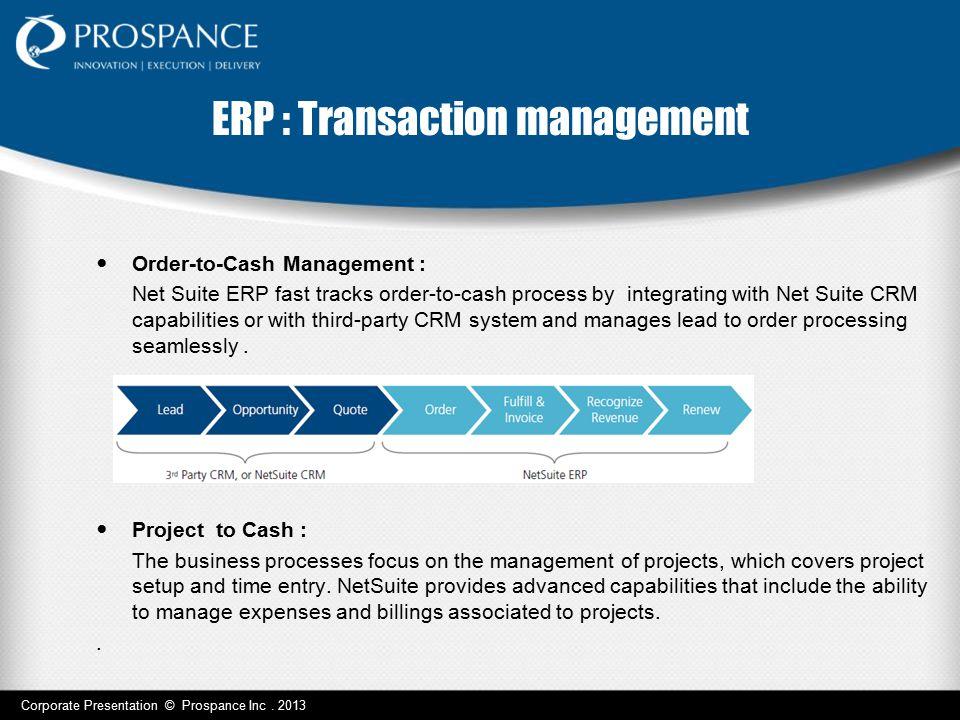 ERP : Transaction management