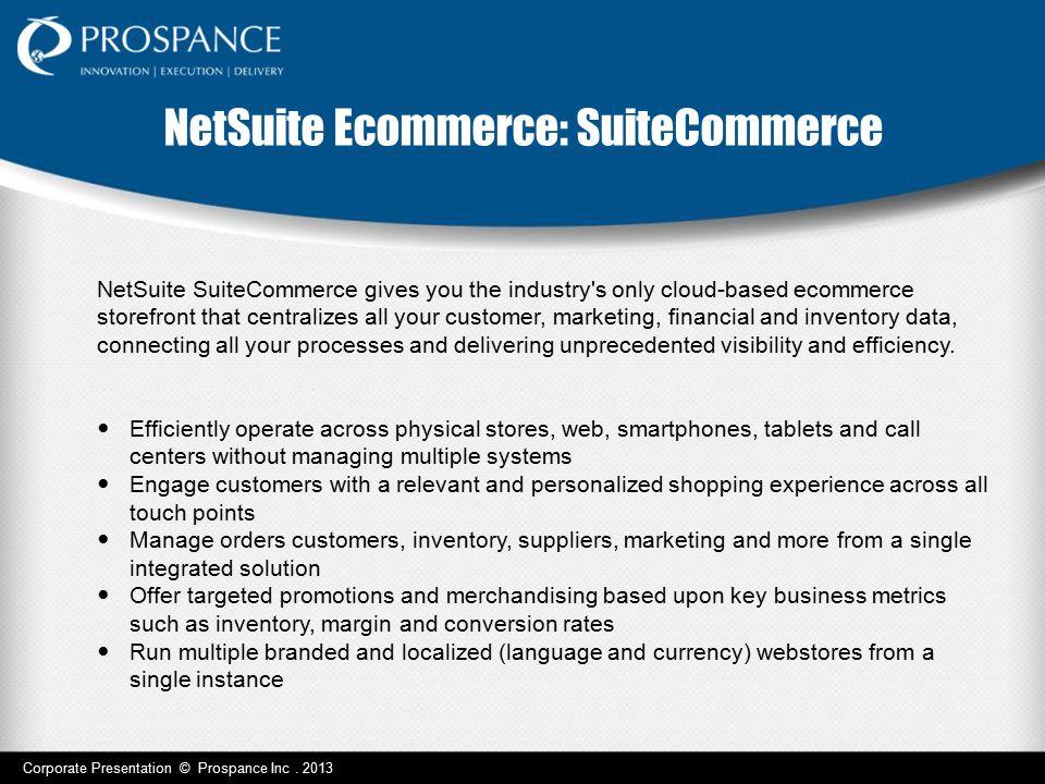 NetSuite Ecommerce: SuiteCommerce