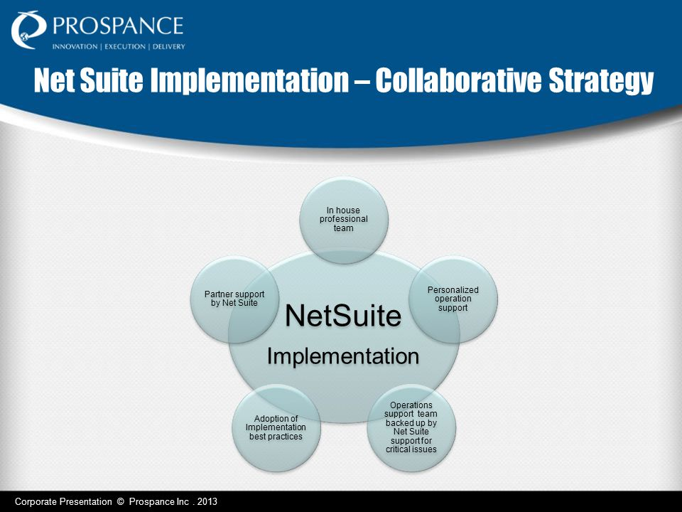 Net Suite Implementation – Collaborative Strategy