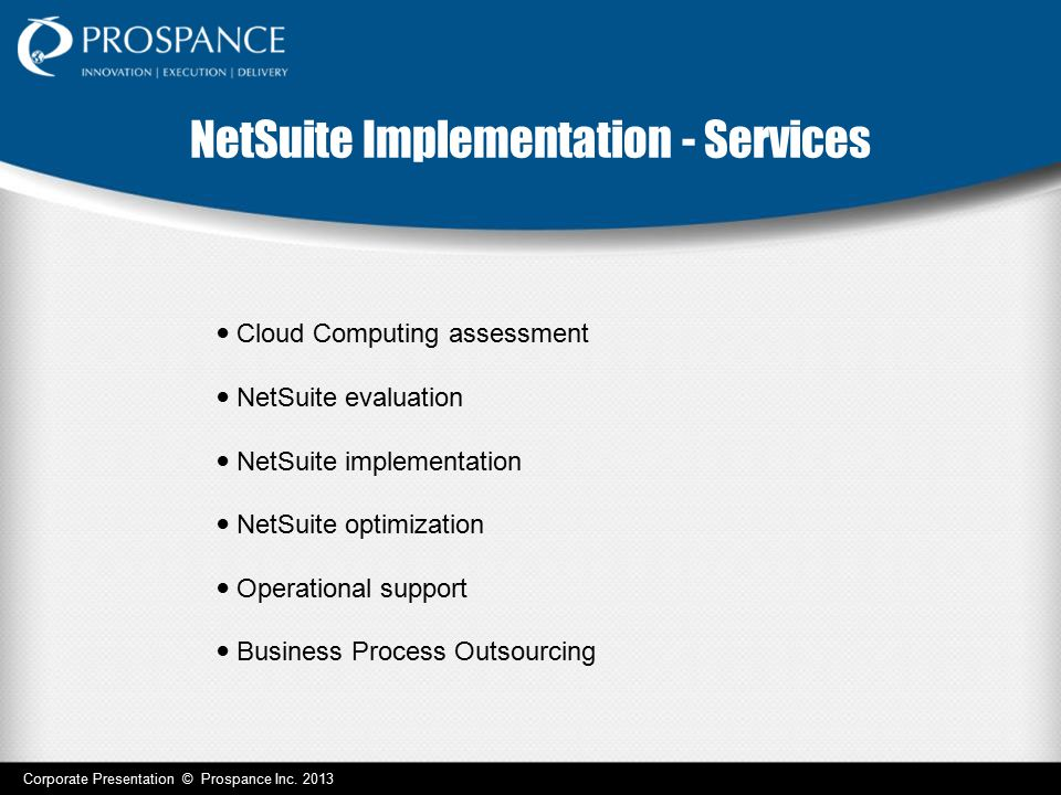 NetSuite Implementation - Services