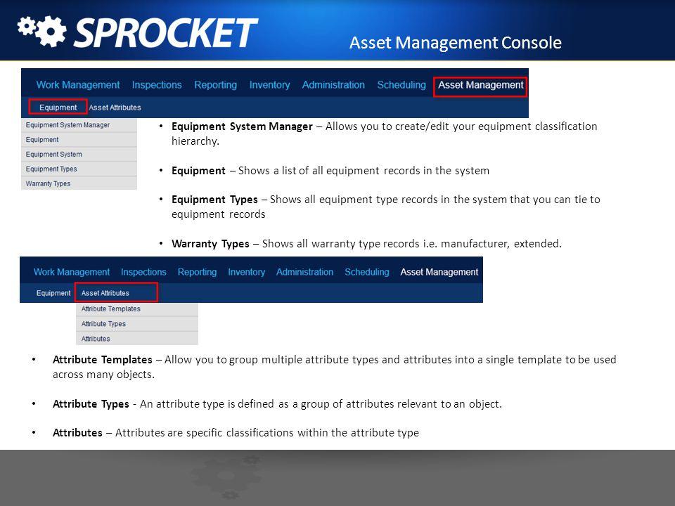 Asset Management Console